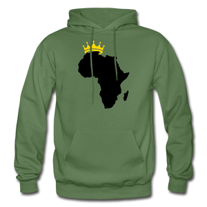African Kings and Queens Men's Hoodie - military green