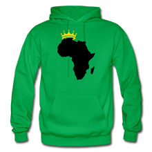 Load image into Gallery viewer, African Kings and Queens Men's Hoodie - kelly green
