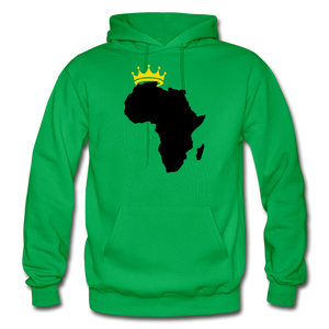 African Kings and Queens Men's Hoodie - kelly green
