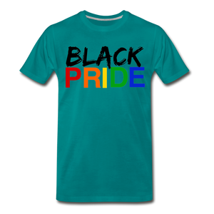 Black Pride Men's Premium T-Shirt - teal