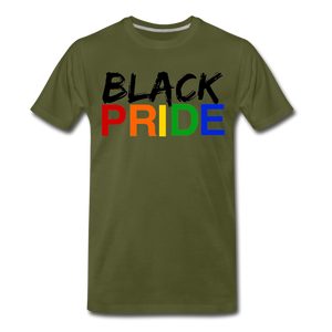 Black Pride Men's Premium T-Shirt - olive green