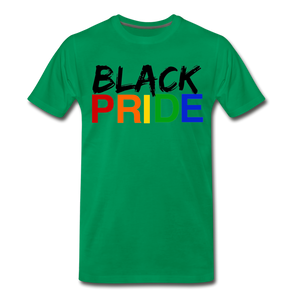 Black Pride Men's Premium T-Shirt - kelly green