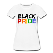 Load image into Gallery viewer, Black Pride Women's Premium T-Shirt - white