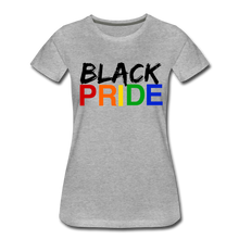 Load image into Gallery viewer, Black Pride Women's Premium T-Shirt - heather gray