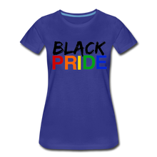 Load image into Gallery viewer, Black Pride Women's Premium T-Shirt - royal blue