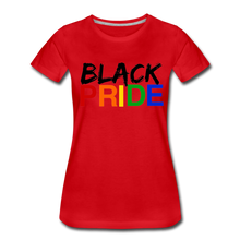 Load image into Gallery viewer, Black Pride Women's Premium T-Shirt - red