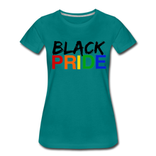 Load image into Gallery viewer, Black Pride Women's Premium T-Shirt - teal