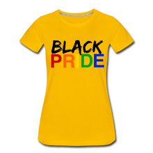 Load image into Gallery viewer, Black Pride Women's Premium T-Shirt - sun yellow