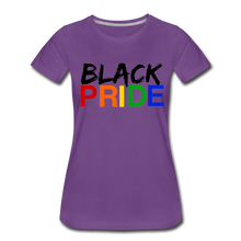 Load image into Gallery viewer, Black Pride Women's Premium T-Shirt - purple