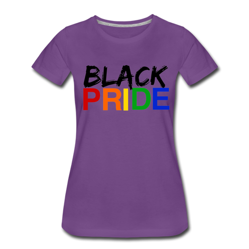 Black Pride Women's Premium T-Shirt - purple
