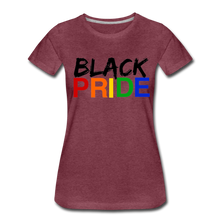 Load image into Gallery viewer, Black Pride Women's Premium T-Shirt - heather burgundy