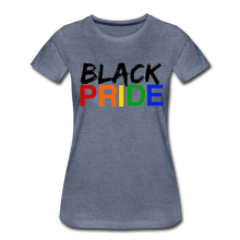 Load image into Gallery viewer, Black Pride Women's Premium T-Shirt - heather blue