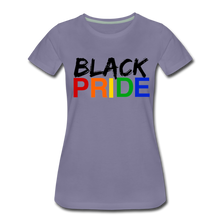 Load image into Gallery viewer, Black Pride Women's Premium T-Shirt - washed violet