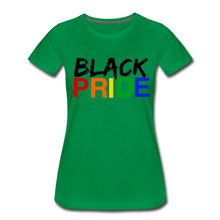Load image into Gallery viewer, Black Pride Women's Premium T-Shirt - kelly green