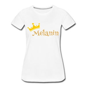 Melanin Queen Premium T-Shirt - white