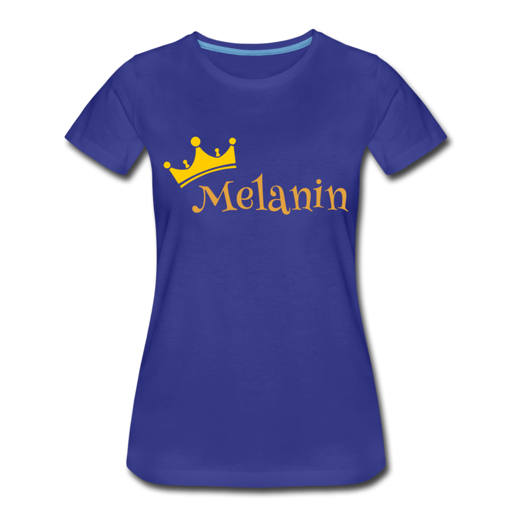 Melanin Queen Premium T-Shirt - royal blue