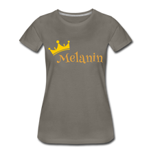 Load image into Gallery viewer, Melanin Queen Premium T-Shirt - asphalt gray