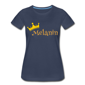 Melanin Queen Premium T-Shirt - navy