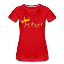 Load image into Gallery viewer, Melanin Queen Premium T-Shirt - red