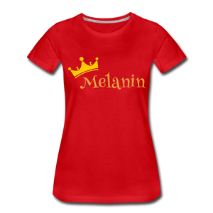 Melanin Queen Premium T-Shirt - red