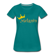 Load image into Gallery viewer, Melanin Queen Premium T-Shirt - teal