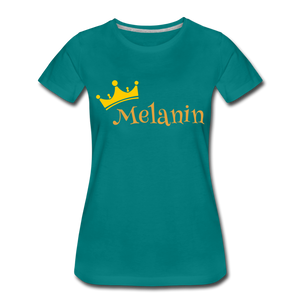Melanin Queen Premium T-Shirt - teal