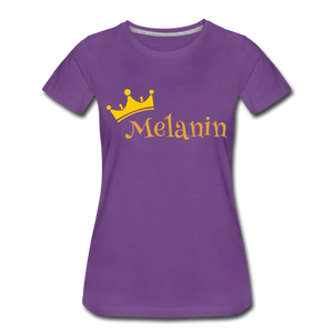 Melanin Queen Premium T-Shirt - purple