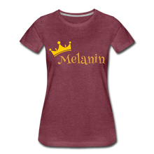 Load image into Gallery viewer, Melanin Queen Premium T-Shirt - heather burgundy