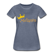 Load image into Gallery viewer, Melanin Queen Premium T-Shirt - heather blue