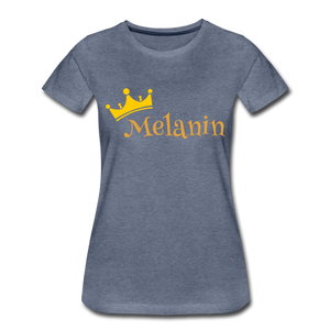 Melanin Queen Premium T-Shirt - heather blue