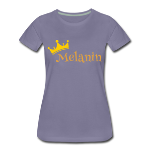 Melanin Queen Premium T-Shirt - washed violet