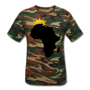 African Kings and Queens Camouflage T-Shirt - green camouflage