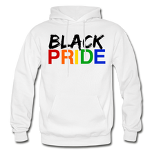 Load image into Gallery viewer, Black Pride Adult Hoodie - white