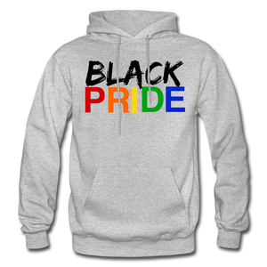 Black Pride Adult Hoodie - heather gray