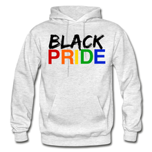 Load image into Gallery viewer, Black Pride Adult Hoodie - light heather gray