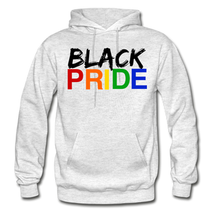 Black Pride Adult Hoodie - light heather gray