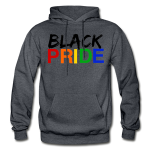 Black Pride Adult Hoodie - charcoal gray