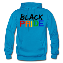 Load image into Gallery viewer, Black Pride Adult Hoodie - turquoise