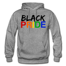 Load image into Gallery viewer, Black Pride Adult Hoodie - graphite heather
