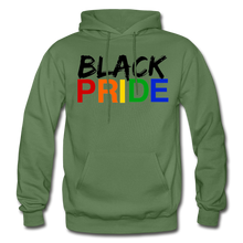 Load image into Gallery viewer, Black Pride Adult Hoodie - military green