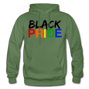 Black Pride Adult Hoodie - military green
