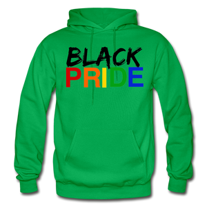 Black Pride Adult Hoodie - kelly green