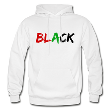 Load image into Gallery viewer, Black Men's Premium Hoodie - white