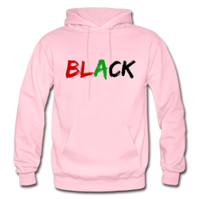 Load image into Gallery viewer, Black Men's Premium Hoodie - light pink