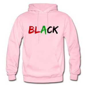 Black Men's Premium Hoodie - light pink
