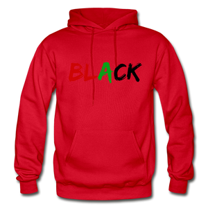Black Men's Premium Hoodie - red