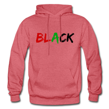 Load image into Gallery viewer, Black Men's Premium Hoodie - heather red
