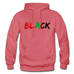 Black Men's Premium Hoodie - heather red
