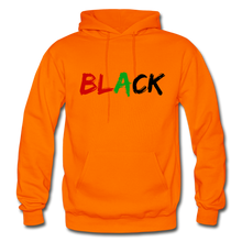 Load image into Gallery viewer, Black Men's Premium Hoodie - orange