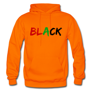 Black Men's Premium Hoodie - orange